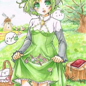 【緑髪かわいい女の子イラスト】第2回 : 梨莎軍団のオリキャラ!その2『ユヴァリィ』