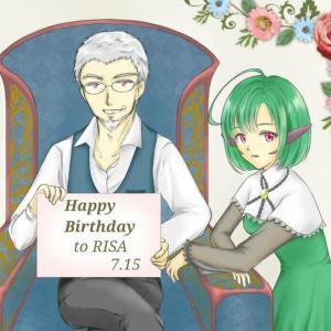 【スタイリッシュ誕生日記念絵】第93回 : 2020年梨莎誕生日記念絵!「ぴよっこ」×「リョジユヴァ」!!