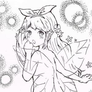 【ボールペンで描いた妖精女王】真2回 : TEAMジウヨリのオリキャラ!その2『ポワラ』