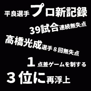 【平良選手プロ野球新記録と高橋光成選手の好投】第35回 : ライオンズ!2021年7月1日の試合感想!!