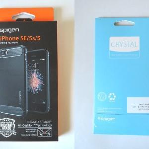 iPhone SEのフィルムとケース