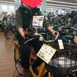 Mちゃんが電動自転車を買いましたよ