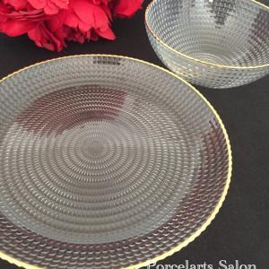 金彩プラスで豪華に変身☆ガラス食器