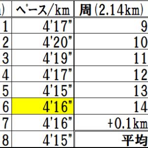 【11/4】練習会30㎞走 ジョグの延長からラスト4㎞強はTペースを目指す