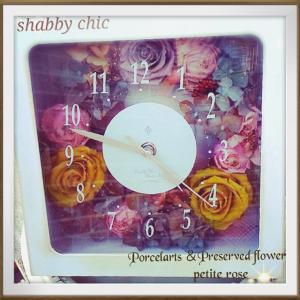シャビーシックな花時計今日は夏日になりそうですね#Shabbychic#花時計...