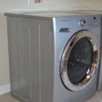 洗濯機の上のスペースに収納 北欧シンプルナチュラルなランドリーラック