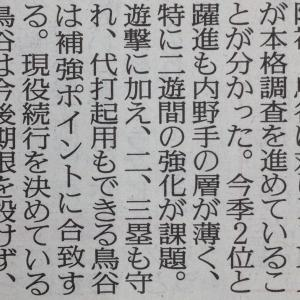 元阪神鳥谷獲得へ DeNAが本格始動