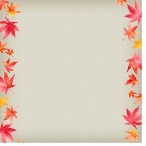 そろそろ紅葉狩りの季節*もみじのカード