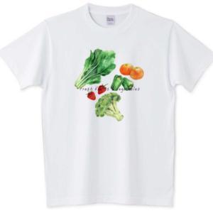 健康が一番*野菜と果物Tシャツ
