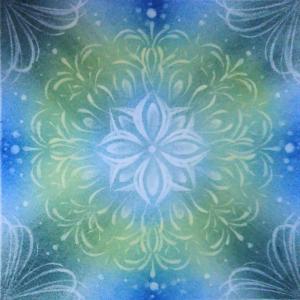 今日の パステル光の曼荼羅 冬の緑