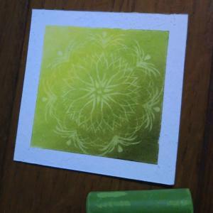 今日の 7画ミニ曼荼羅 ヤシの木