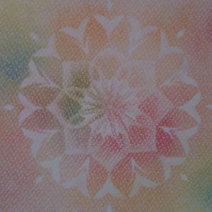 ポストカードサイズの曼荼羅を描きました