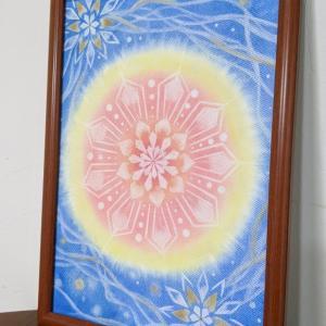光の曼荼羅パステル 最終日 ご受講生様の素敵な9画曼荼羅ですヾ(=^▽^=)ノ