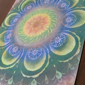 光の曼荼羅パステル 一緒に描いた私の9画曼荼羅 A4サイズです♪