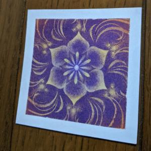 今日の 小さなパステル曼荼羅 紫