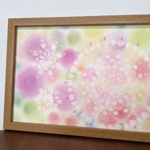 光の曼荼羅パステル A4サイズの曼荼羅 花いっぱいの可愛いご作品をご紹介します♪♪♪