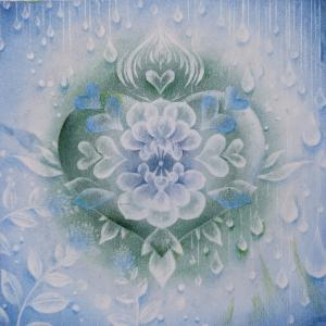 雨の日には大雨の 結晶の花アート 優花