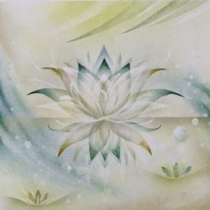 結晶の花アート 彩花 講座用モチーフを描いてみた