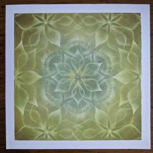 このごろ描いたパステル曼荼羅「光」 そしてマヤ暦