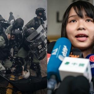 香港警察 高校生に向けて発砲!
