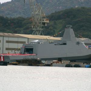 ステルス護衛艦 「くまの」が進水