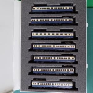 GREENMAXのキットで纏めた70系横須賀線5両編成を見る。