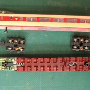 TOMIXのクハ381とサロ381で作ったクロ381-0番台