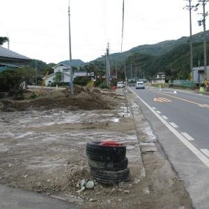 台風19号 国道254号 上田市平井 穴沢 西内 土砂・水害被害現場 独鈷山
