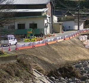 国道152号復旧(仮)! 大門川 長和町 落合橋 大和橋 台風19号