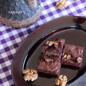 スイス的 秋の味覚 クルミ入りApple Brownies♪