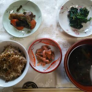 玄米ごはん&お味噌汁♪朝ごはん♪