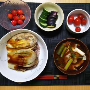 なす丼×うなぎのタレ☆おうちごはん☆