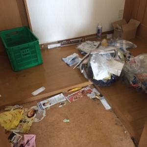 【ハウスクリーニング】初掃除は横手市内賃貸物件 残置物汚部屋のビフォーアフター画像有り
