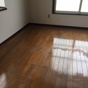 【ハウスクリーニング】今日は湯沢市内賃貸物件のお掃除です。床洗浄・ワックス掛けビフォーアフター有