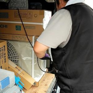 【エアコン工事】湯沢市愛宕町・沖田でエアコン工事です。今日も雨降りませんように!