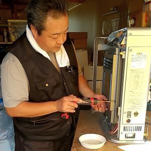 【今日のお仕事】エアコン工事・ストーブ分解掃除・修理と月に一度の高血圧チェックの日