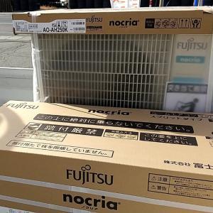 【エアコン工事】今日は湯沢市内で2件工事。来年の夏用エアコン・真冬も使える寒冷地仕様エアコン