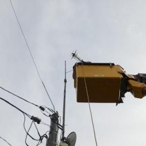 【アンテナ工事】今時期一番多いのはアンテナ関連のご依頼 湯沢市内で2件工事です。
