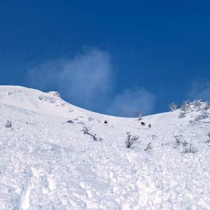 雪山の二つの顔(伊吹山)