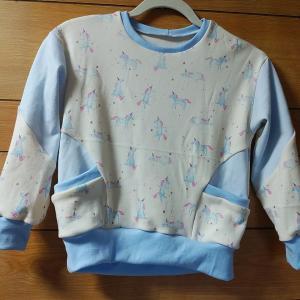 『息子服』ドロップショルダートレーナーセット フレア袖のフレアなし