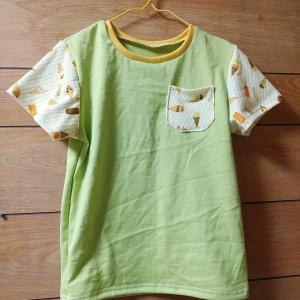 【息子服】puririさんアイスで6種の袖T 130