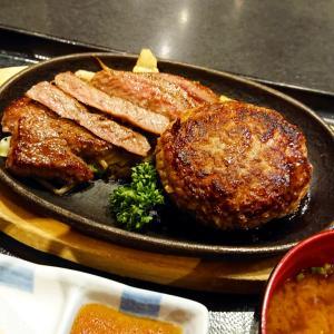 博多駅ランチ【夢花げんき堂】ハンバーグ&ステーキ よくばりセットを満喫…☆
