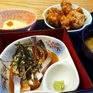 博多駅ランチ【ぞっこん離れ】美味しい胡麻さば膳に鶏のから揚げを1個10円でセットに♪