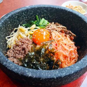 大名ランチ【Korean Restaurant 210】豊富なメニューが魅力!石焼ビビンバを満喫