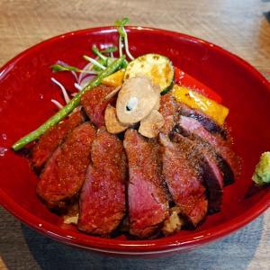 大名ランチ 【大名焼肉USHI-BUCHI】ボリュームたっぷりな赤身肉のステーキ丼を満喫…☆