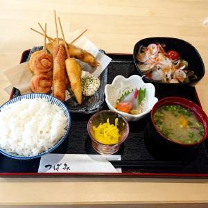 久留米ランチ【つぼみ】サクッと揚げられた串カツ定食を満喫…☆