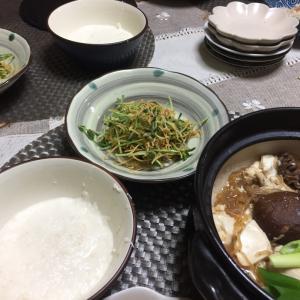 肉豆腐、無限豆苗