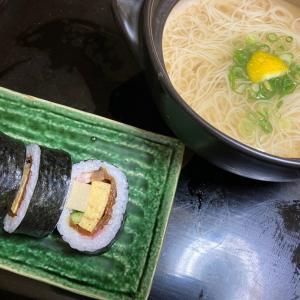 にゅうめんと巻き寿司