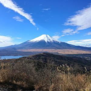 石割山 -山中湖へ 初冬の富士見物