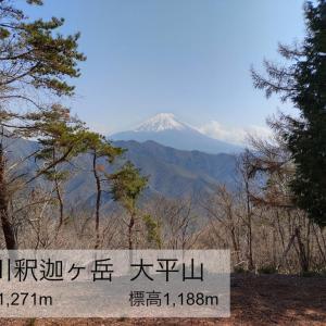 芦川釈迦ヶ岳 大平山 ー御坂山塊もう一つの釈迦ヶ岳